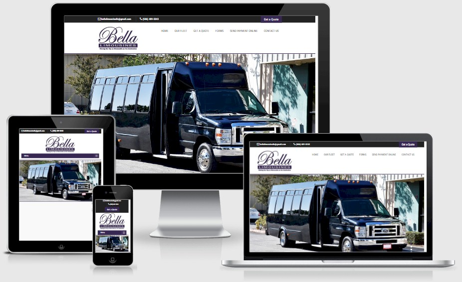 Bella Limousines Website Design