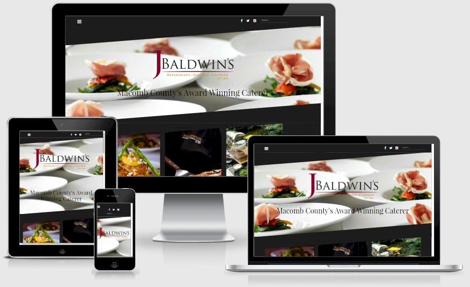 Catering by J.Baldwin's Website Design Portfolio