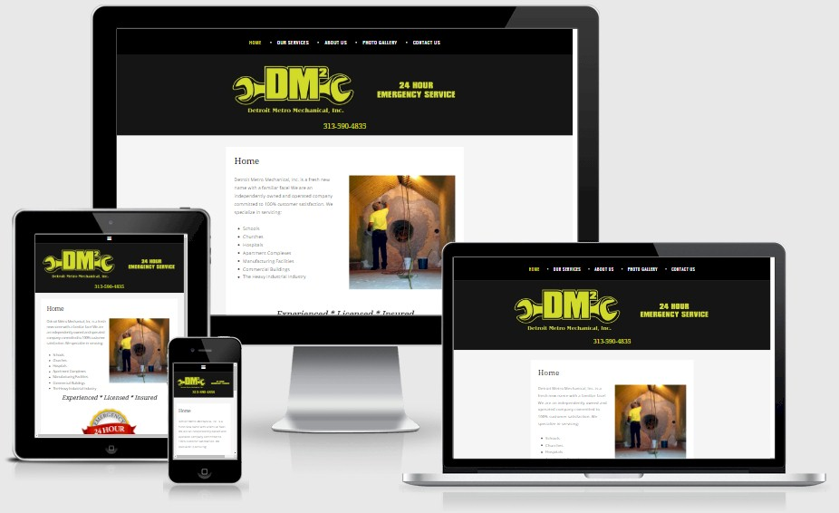 Detroit Metro Mechanical Website Design Portfolio