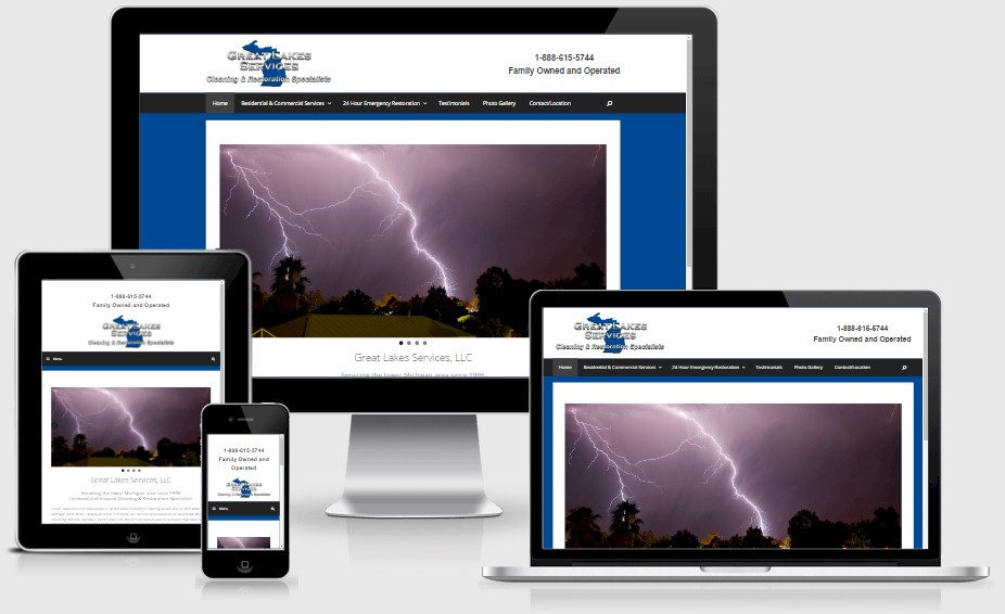 Great Lakes Services Restoration Website Design