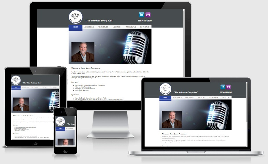 Kevin Scollin Productions Website Design Portfolio