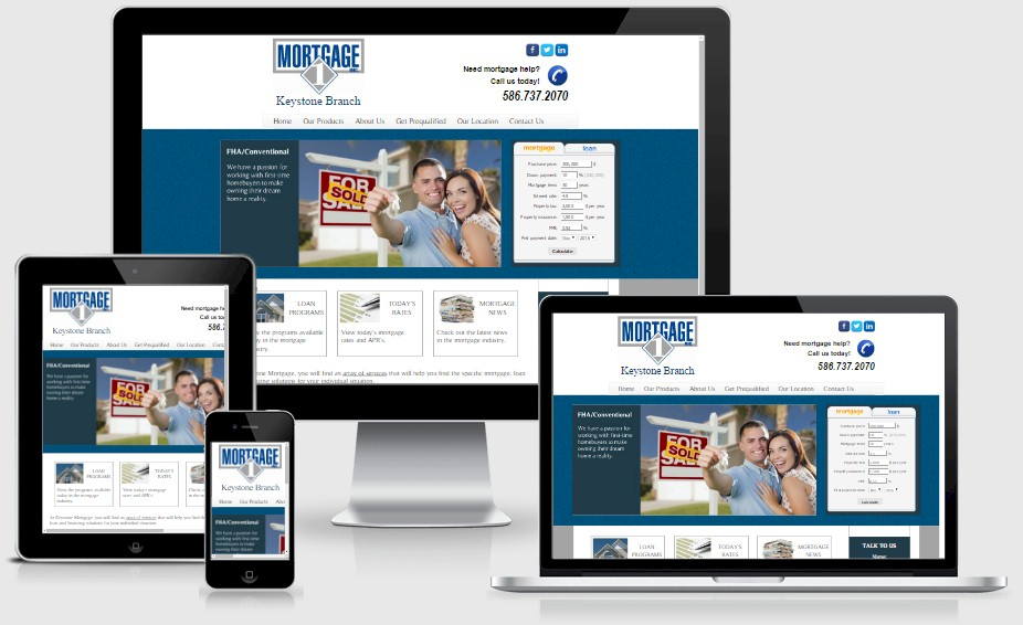 Keystone Mortgage Website Design Portfolio