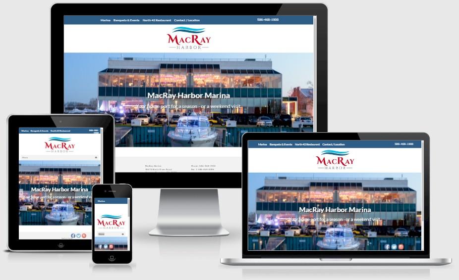 MacRay Harbor Marina Restaurant Website Design Portfolio
