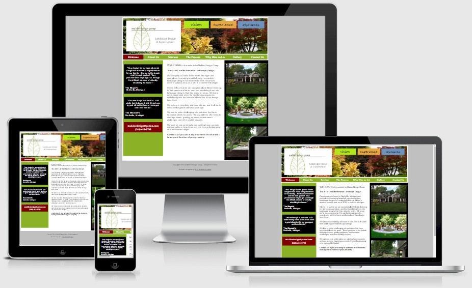 Mulder Design Landscaping Website Design