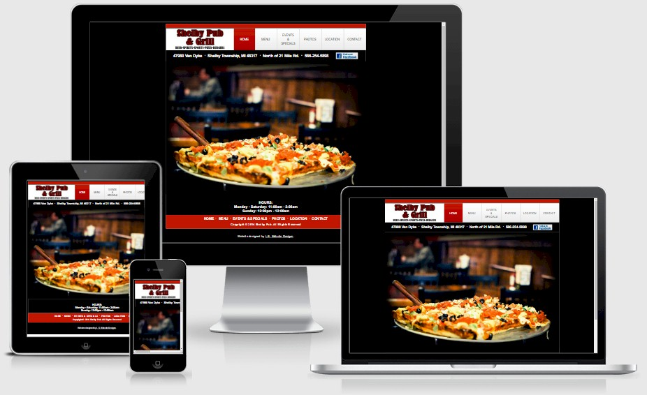 Shelby Pub Bar Website Design Portfolio