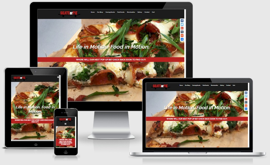 Sk8orPie Pop Up Restaurant Website Design Portfolio
