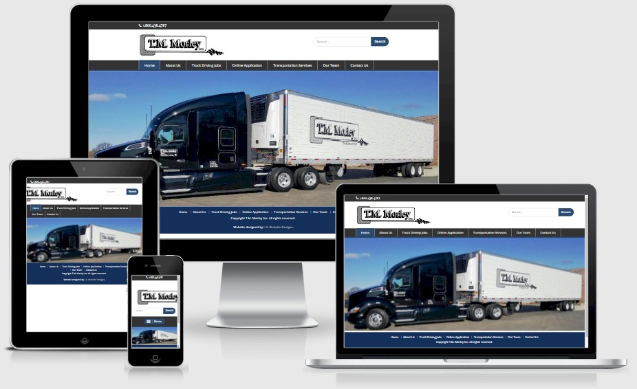 T.M. Morley Trucking Website Design Portfolio