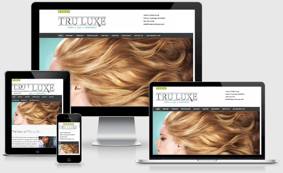 Tru Luxe Salon Spa Website Design Portfolio