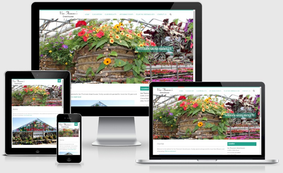 Van Thommes Greenhouses Website Design Portfolio