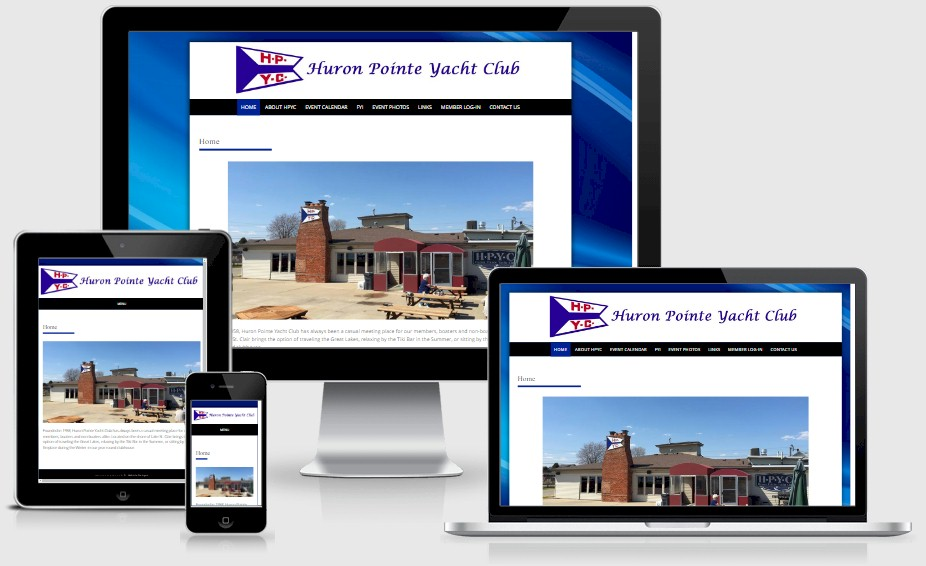 Huron Pointe Yacht Club Website Design Portfolio