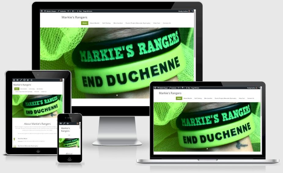 Markie's Rangers Duchenne Muscular Dystrophy Website Design Portfolio