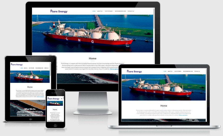 Pcore Energy Website Design Portfolio