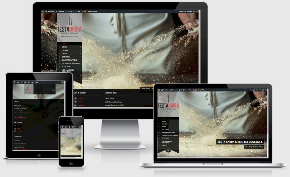 Testa Barra Restaraurant Website Design