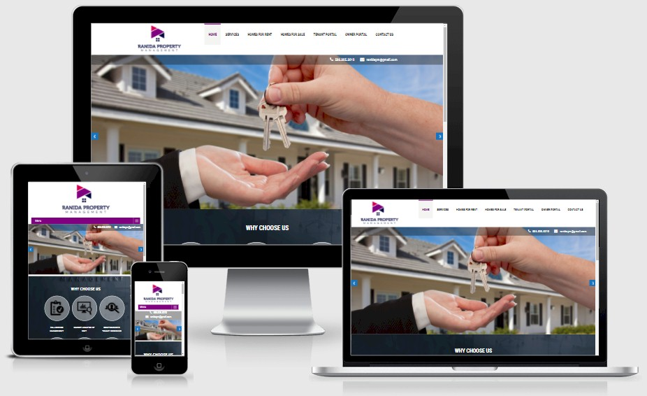 Ranida Property Management Website Design Portfolio