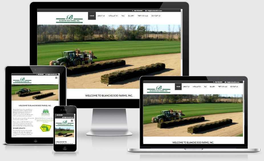 Blancke Sod Farm Website Design Portfolio