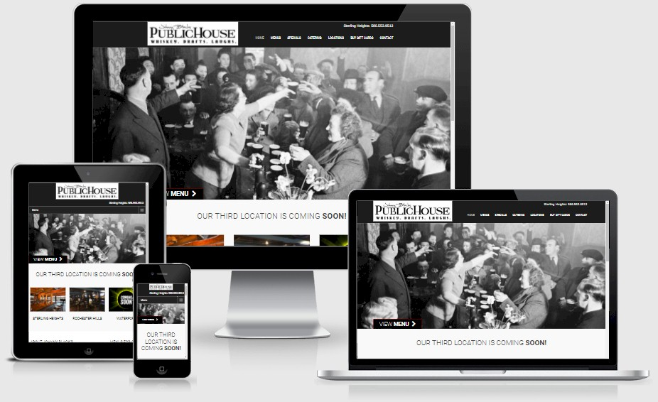 Johnny Blacks Public House Website Design Portfolio