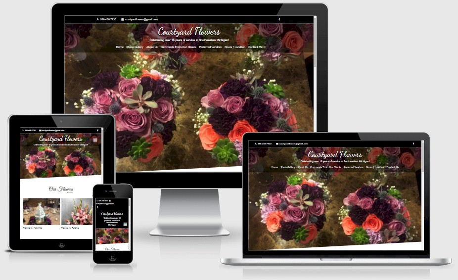 Courtyard Flowers Florist Website Design Portfolio