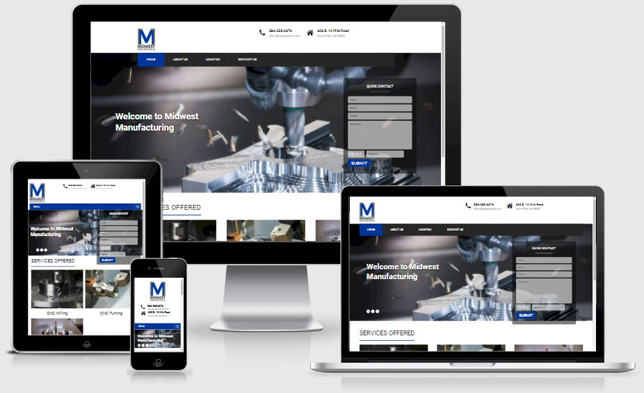 Midwest Manufacturing CMM Website Design Portfolio