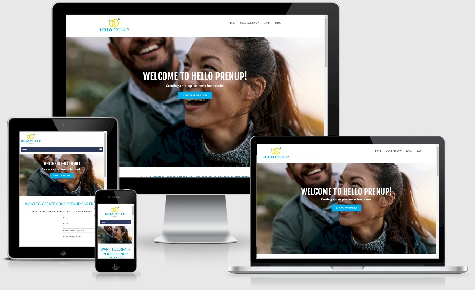 Hello Prenup Website Design Portfolio