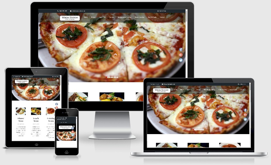 Wixom Station Restaurant Website Design Portfolio