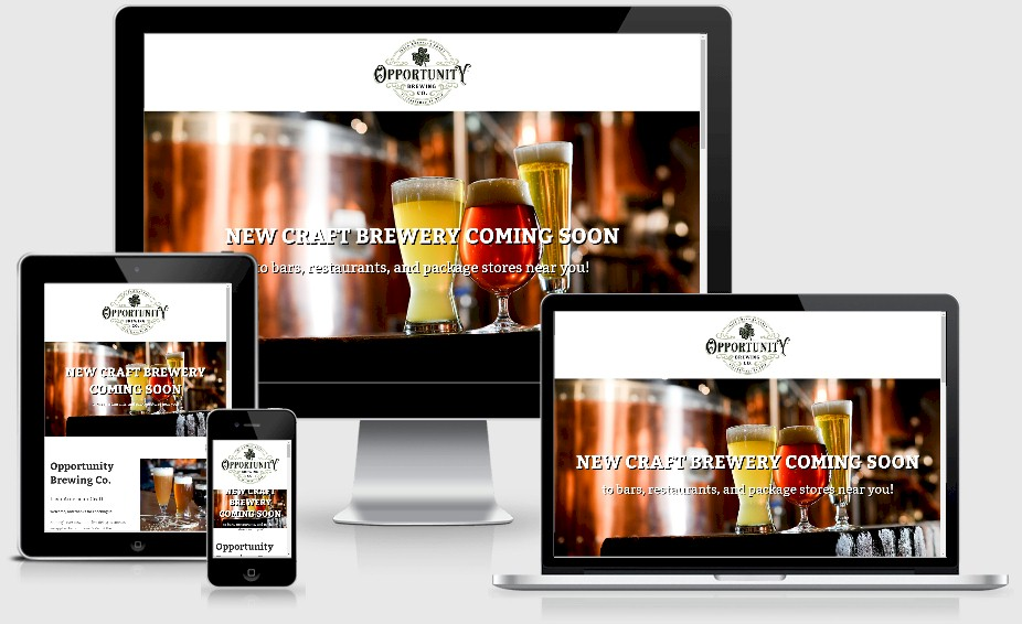 Opportunity Brewing Brewery Website Design Portfolio