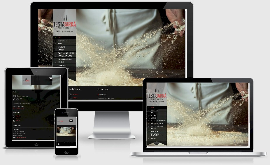 Testa Barra Restaraurant Website Design Portfolio