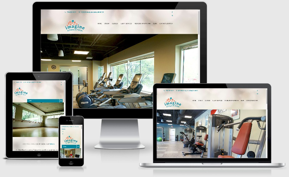 Imagine Fitness and Yoga Website Design Portfolio