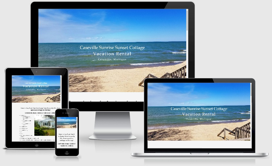 Caseville Sunrise Sunsest Vacation Rental Website Design Portfolio