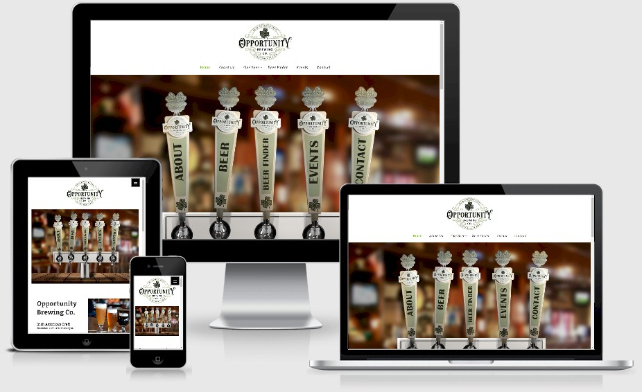 Opportunity Brewing Brewery Website Design Portfolio