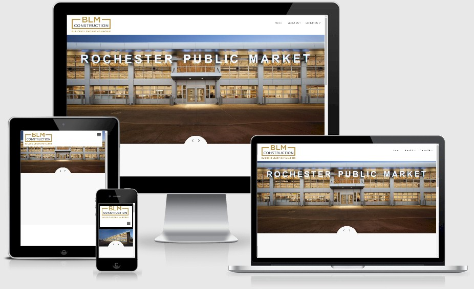 BLM Construction Contractor Website Design Portfolio