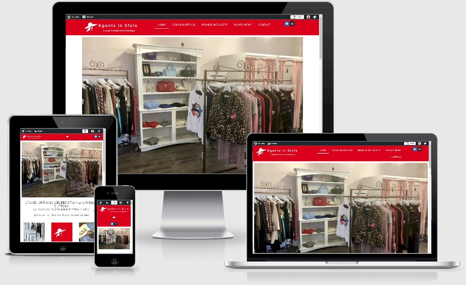 Agents in Style Resale Boutique Website Design Portfolio